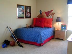 Dětská postel a pokoj
